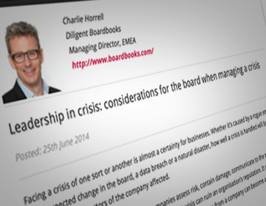 in the news - Leadership in crisis Considerations for the board when managing a crisis