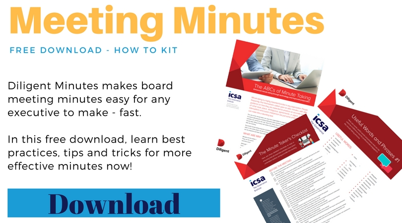 how to take better board meeting minutes diligent