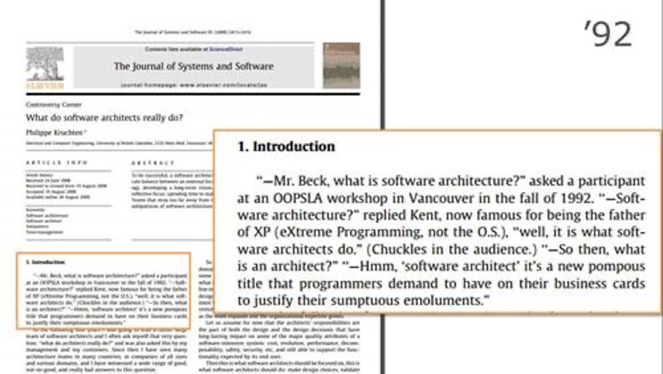 What do software architects do?