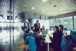 Boardroom dynamics and effective communication.