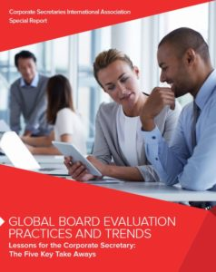 Diligent and CSIA Global Board Evaluations Practices and Trends Whitepaper -