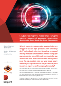 Cyber Security and the Board - Part 2: The Top-Five Questions the Board Should Ask About Cybersecurity